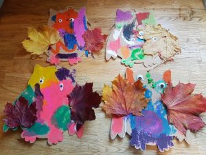 How to make…. Autumn leaf Owls!