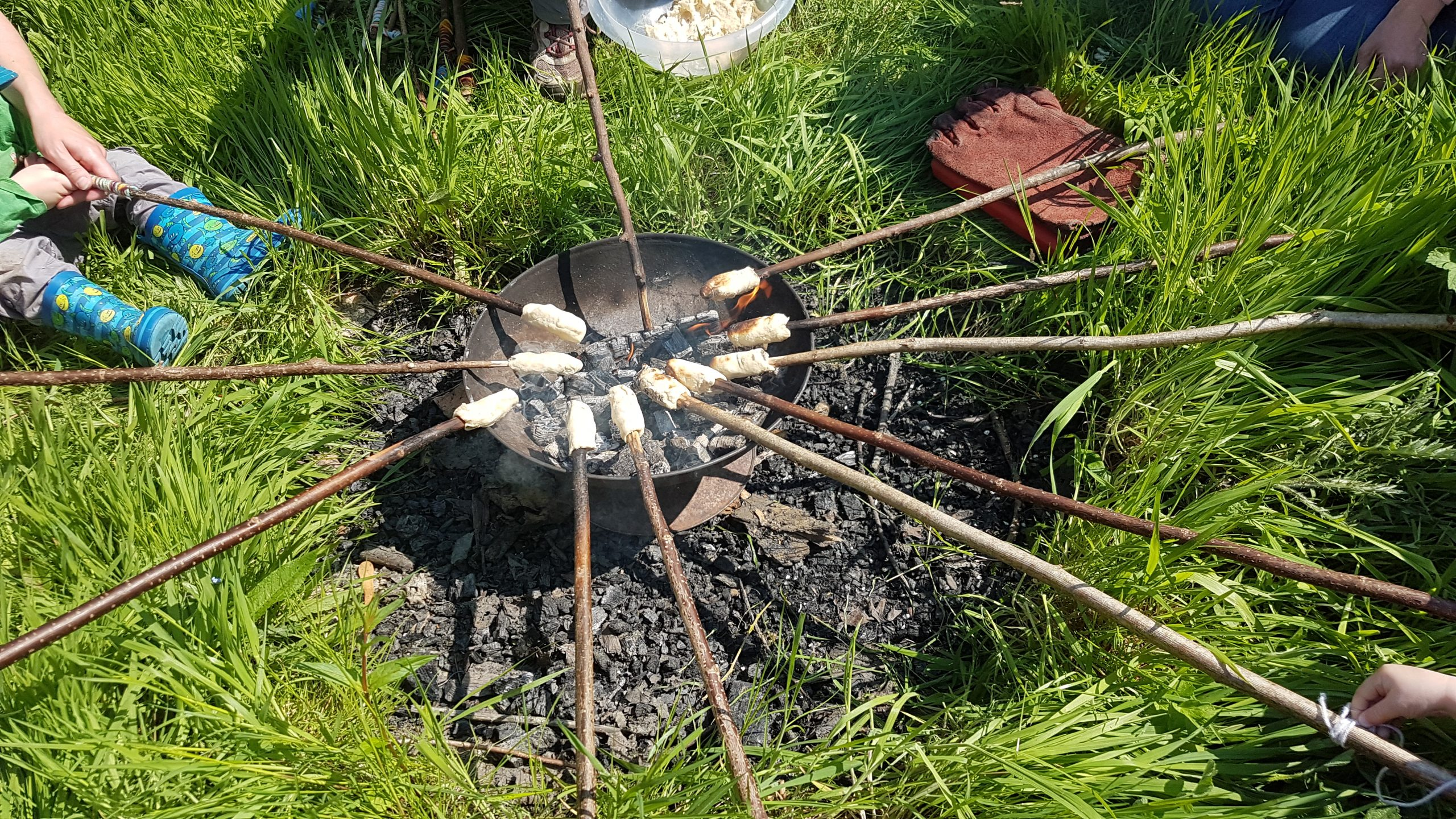 Stick bread at Forest school